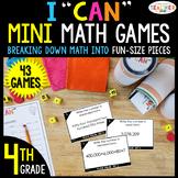 4th Grade I CAN Mini Math Games BUNDLE | 43 Games & Centers