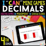 4th Grade I CAN Mini Math Games DIGITAL | Decimals | 4 Gam