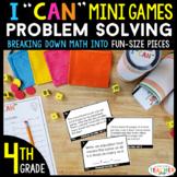 4th Grade I CAN Mini Math Games | Problem Solving | 4 Game