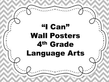 4th Grade I Can Language Arts Posters