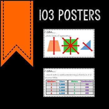 Math Posters 4th Grade Common Core The Whole Year Bundle