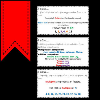 Math Posters 4th Grade Common Core Operations and Algebraic Thinking