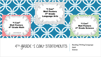 4th Grade I Can Posters BUNDLE