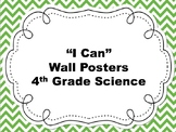 4th Grade I Can Science Posters