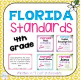 "4th Grade ""I Can"" Statements BUNDLE: ELA, Math, Science, Social Studies"
