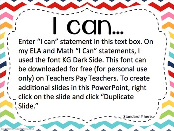 "Editable ""I Can"" Statements - Rainbow"