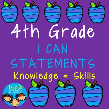4th Grade I Can Statements Checklist