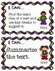 4th Grade I Can Statements ELA Common Core Standards-Super