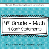 4th Grade I Can Statements - Math New MLS