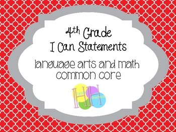 4th Grade I Can Statements (OSU Colors!)
