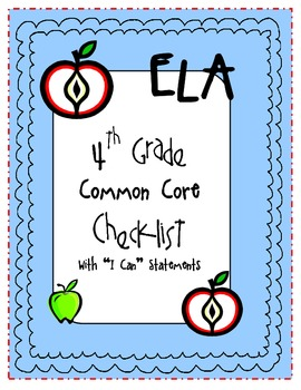"4th Grade ""I Can"" Statements Packet - {Common Core Aligned for Missouri}"