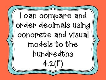4th Grade I Can Statements for Math