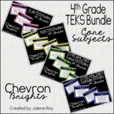 "4th Grade ""I Can"" TEKS Statement Poster Bundle: CHEVRON BRIGHTS"