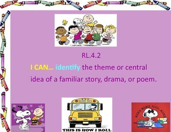 "Alternative CCSS assessemnt- 4th Grade ""I Can"" statements for ELA"