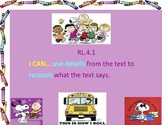 """Alternative CCSS assessemnt- 4th Grade """"I Can"""" statements for ELA"""