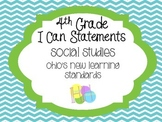 4th Grade I can Statements - Ohio Social Studies (grey chevron/dots and orange)