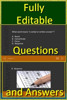 4th Grade ISAT Test Prep Vocabulary and Mythology Allusions Review Game I - SAT