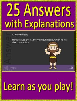 4th Grade ITBS Test Prep Greek Mythology Allusions Review Game