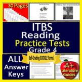 4th Grade ITBS Test Prep - Reading ELA Practice Iowa Basic Skills - SELF-GRADING