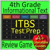 4th Grade ITBS Test Prep Reading Informational Text and Non-Fiction Review Game