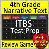 4th Grade ITBS Test Prep Reading Literature and Narrative Review Game
