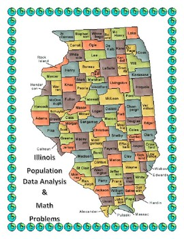 Illionis Data Analysis and Math Word Problems on the Population of Illinois