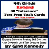 4th Grade Inference Task Cards, Reading Test-Prep