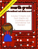 4th Grade Informational Text Choice Board & Graphic Aids ~ Task Card Option