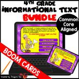 4th Grade Informational Text Digital Boom Card Bundle