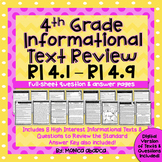 4th Grade Informational Text Review (RI4.1 - RI4.9) | Dist