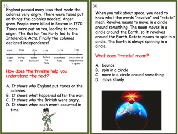 4th Grade Informational Text Task Cards and Game