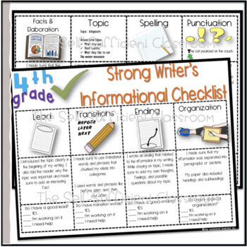 4th Grade Informational Writing