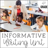 4th Grade Informative + Expository Writing- Unit 5 -6 Week