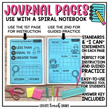 Math Interactive Notebook 4th Grade Number & Operations in Base Ten