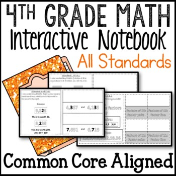 Interactive Math Notebook 4th Grade Common Core Buddy All