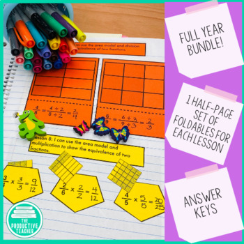 Engage New York Math Aligned Interactive Notebook: Grade 4, Complete Year Bundle