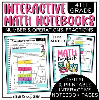 Interactive Math Notebook 4th Grade Fractions
