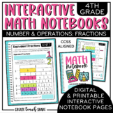 Interactive Math Notebook 4th Grade Fractions