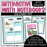 Interactive Math Notebook 4th Grade Math Geometry