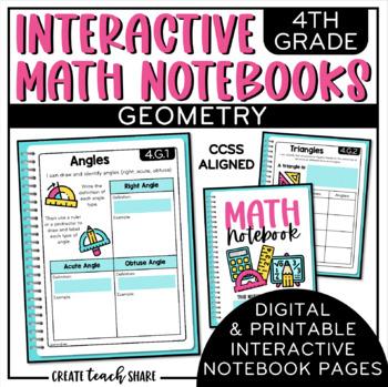 Math Interactive Notebook 4th Grade Geometry