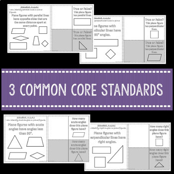 Geometry Interactive Math Notebook 4th Grade Common Core