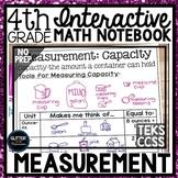 4th Grade Interactive Math Notebook - Measurement - Capacity, Length, Weight