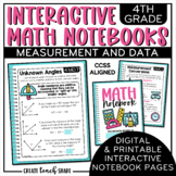 Math Interactive Notebook 4th Grade Measurement & Data