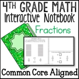 Fractions Interactive Math Notebook 4th Grade Common Core