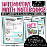 Math Interactive Notebook 4th Grade Math Operations & Alge