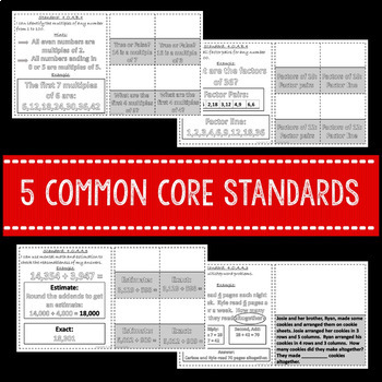 Operations Algebraic Thinking Interactive Math Notebook 4th Grade Common Core