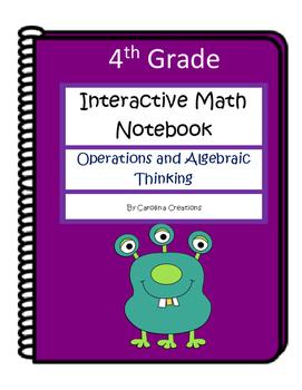 4th Grade Interactive Math Notebook - Operations and Algebraic Thinking - OA
