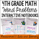 4th Grade Interactive Math Notebook: Word Problems {Measurement/Data & Geometry}