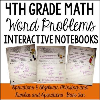 4th Grade Interactive Math Notebook: Word Problems {OA and NBT}