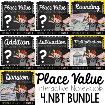 4th Grade Interactive Notebook - Place Value {4.NBT Growing Bundle}